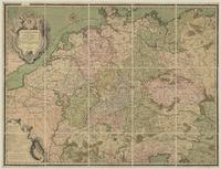 L'Allemagne divisée en havte et basse, et par cercle; Subdivisée enEtats Ecclesiastiques, et Laiques et Villes Imperiales.