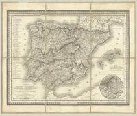 Carte des routes de postes et itinéraires d'Espagne et de Portugal