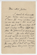 Letter, Joseph Joachim to Mrs. Gordon