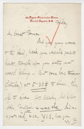 Letter, Walter Bache to Alfred Forman