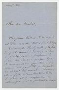 Letter, Liszt to Julius Benedict