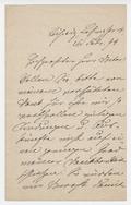 Letter, Marie Lipsius (\u2018La Mara\u2019) to an unknown correspondent