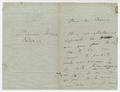 Letter, Liszt to Mons.  Mercier