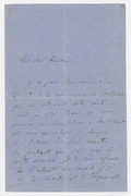 Letter, Franz Liszt to unnamed correspondent