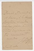 Letter, Franz Liszt to a Cardinal