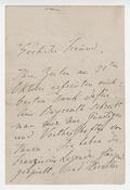 Letter, Liszt to Berthold Kellermann