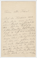 Letter, Liszt to an unknown correspondent