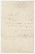 Letter, Sir Charles Hallé to violinist John Carrodus