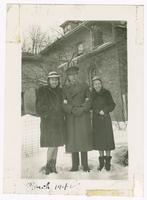 1942-03, Stuart Ivison with Frances and Muriel, London, Ontario