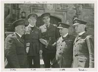 1943-05, Chaplains (LR) Fallis, Kidd, Ivison, Wells, Gordon at Chaplains Conference, Toronto, Ontario