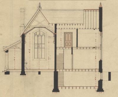 Design for a gate lodge Burlington Cemetery [set of architectural plans]