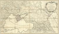Carte des environs de la Mer-Noire