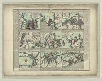 Karte derer englischen Unternehmungen zur See auf denen französischen Küsten
