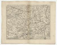 [24]. Carte des environs de Luxembourg