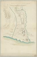 Carte des environs de la ville et du chateau de Vintimille 1747
