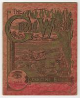 The Great West Exercise notebook