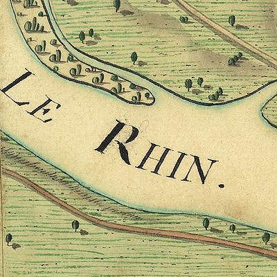 Carte des Bords du Rhin
