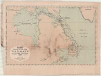 Chart showing the track of the 'D.S.S. Alert' Hudson's Bay Expedition 1885