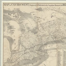 map of canada west