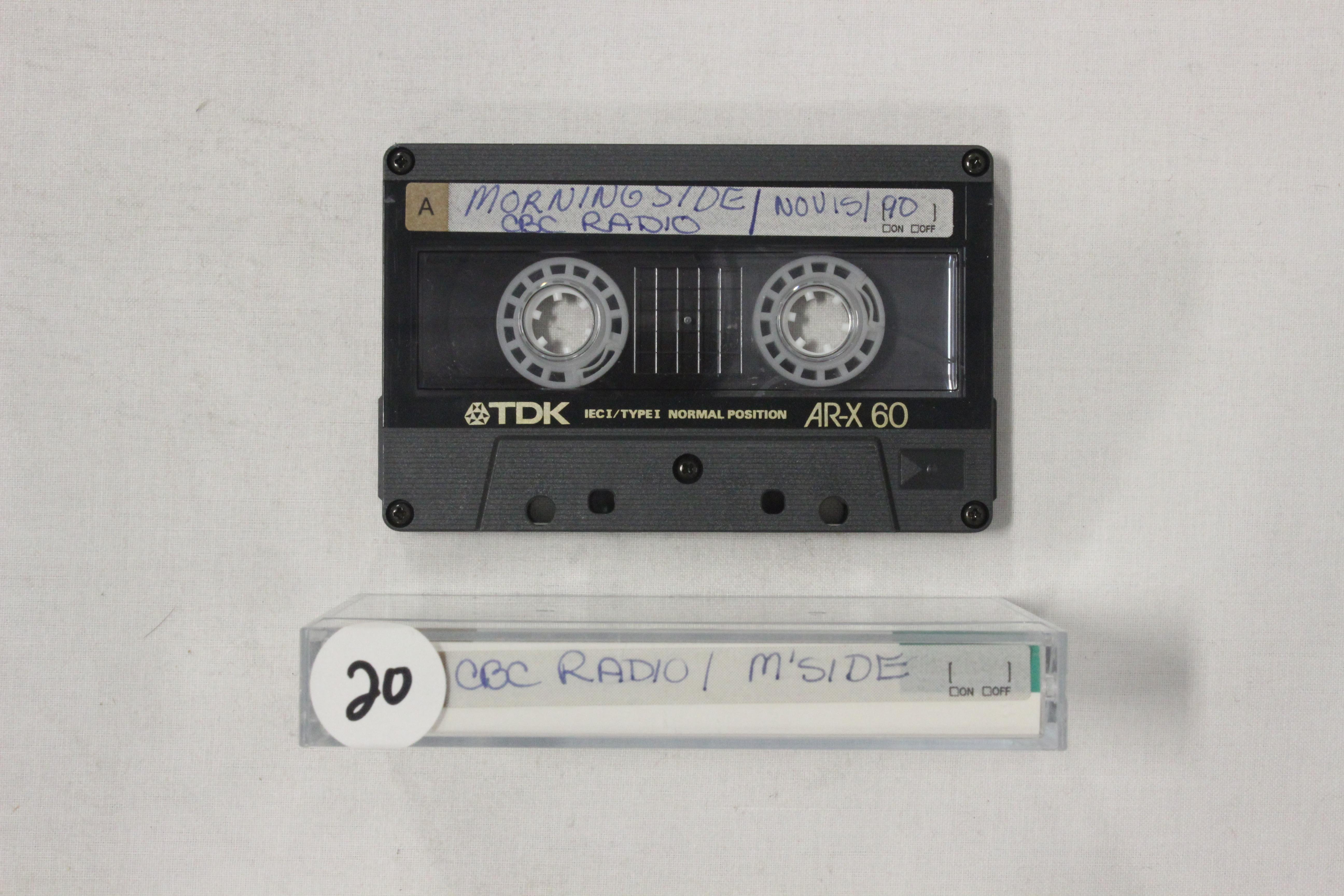 CBC radio,Morningside, 15 Nov 1990