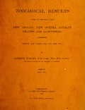 Zoological results based on material from New Britain, New Guinea, Loyalty Islands and elsewhere, collected during the years 1895, 1896 and 1897; part III