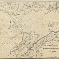 Plan of the different channels, leading from Kingston to Lake Ontario