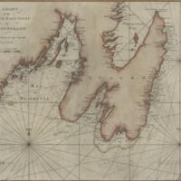 A chart of the south-east coast of Newfoundland