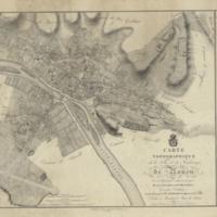 Carte topographique de la ville et des faubourgs de Rouen