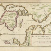 Plan du port de la Haive situé á la côte d'Accadie