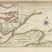 Plan du Port Dauphin et de sa rade avec l'entrée de Labrador