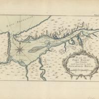 Plan du Port Royal dans l'Acadie, appellé aujourd'. par les Anglois Annapolis Royal