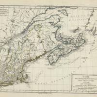 Carte de la partie septentrionale des Etats Unis, comprenant le Canada
