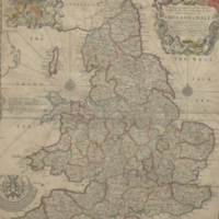 A new map containing all the citties. market townes. rivers. bridges. & other cosiderable places in England & Wales
