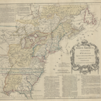 North America from the French of Mr d'Anville improved with the back settlements of Virginia and course of Ohio