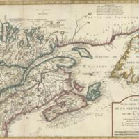 Carte de la partie orientale de la Nouvelle France ou du Canada