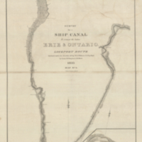 Survey for a ship canal to connect the Lakes Erie & Ontario.  Lockport Route