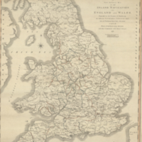 A new general map of the inland navigation of England and Wales