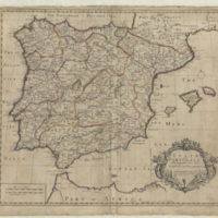 Spain and Portugall distinguish't into their kingdoms and principalities &c.