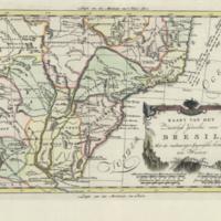 Kaart van het zuidelyk gedeelte van Bresil, met de nabuurige Spaansche bezittingen ten westen