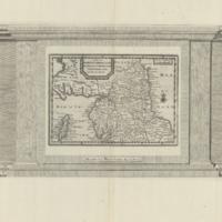 Carte de Northumberland, Durham, Cumberland, Westmoreland, et l'Ile de Man