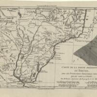 Carte de la partie méridionale du Brésil, avec les possessions espagnoles voisines qui en sont a l'ouest