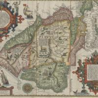 Delineatio omnium orarum totius Australis partis Americae, dictae Peruvianae, à R. de la Plata, Brasiliam, Pariam,...