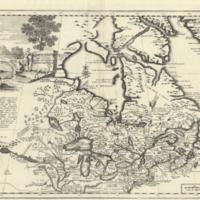 Carta geografica del Canada nell' America Settentrionale