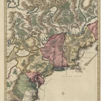 Nova tabula geographica complectens borealiorem Americæ partem