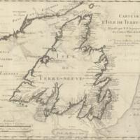 Carte de l'Isle de Terre-Neuve