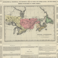 Geographical, statistical, and historical map of Upper and Lower Canada, and the other British possessions in North America