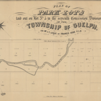 Plan of park lots laid out on lot no 5 in the seventh concession, Division C, in the Township of Guelph