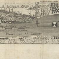 Profil de la ville de Quebec et de ses environs attaquée par les Anglois en l'année 1691