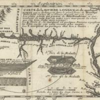 Carte de la Riviere Longue et de quelque autres qui se dechargent dans le grand fleuve de Missisipi ...