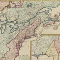 Carte des possessions françoises et angloises dans le Canada, et partie de la Louisiane